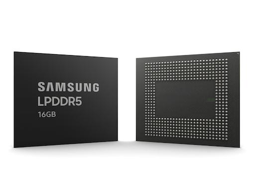 図1 16GBのLPDDR5製品 出典:Samsung