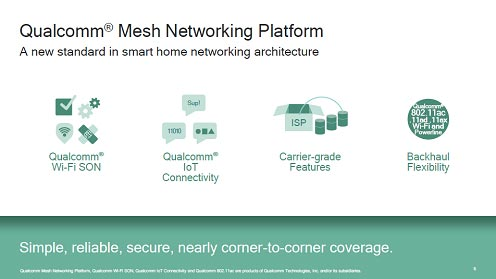 図 Qualcomm Mesh Networking Platform / A new standard in smart home networking architecture