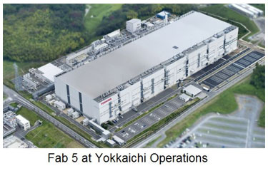 Toshiba starts 15nm fabrication at Fab 5